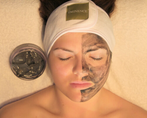 Facial using Eminence Organic Skin Care products